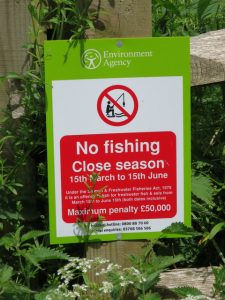 Freshwater Rod Fishing Rules Sign