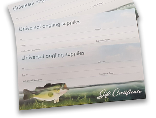 Universal Angling Christmas Gift Cards now available