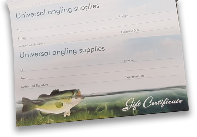 Universal Angling Gift Cards now on sale
